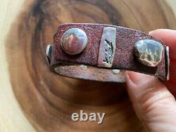 Jes MaHarry/Sundance Artist/Sterling & Leather Bracelet/One of a Kind