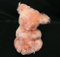 Kimberly Fischer Handmade Pair Applesauce Bear & Porkchops Pig OOAK Mohair withCOA