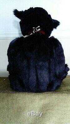 Kohen Coco and Clare Handmade black Ooak collectors bear Artist Bear 23