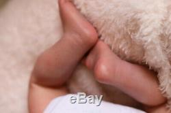LOW STOCK REBORN BABY DOLL LOGAN HANDPAINTED BY ARTIST 9yrs SUNBEAMBABIES GHSP