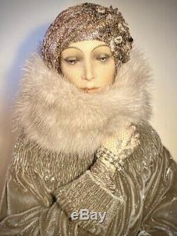 Lady in Gray 24 Doll Alexandra Koukinova Russian Porcelain Fantasy Artist Doll