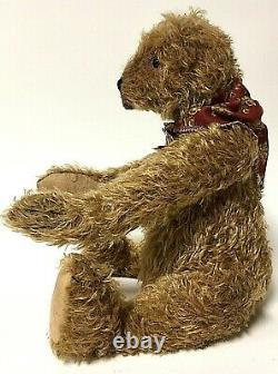 Lori Ann Baker 14 Tan Mohair Jointed Artist Teddy Bear