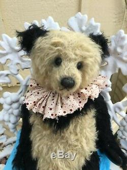 MYRTLE Artist Mohair Teddy Bear HTF Panda JACQUELINE WINTER 16 OOAK