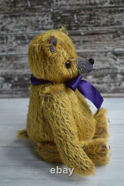 Mohair artist bear'Rhona' 10.25 OOAK L Shaw, Butterfly Bears
