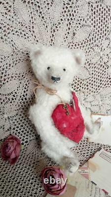 Musical bear Valentine's day gift Antique teddy bear