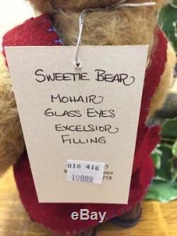 NEW Beautiful Handmade Artist Bear by Sharon Queen, Mohair Sweetie Pie