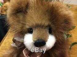 NEW Susan Arnot Handmade Artist Bear, Recycled Mink Fur