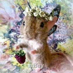 Needle Felt Fantasy Summer Woodland Fairy Mouse Fiona Artist Robin Joy Andreae
