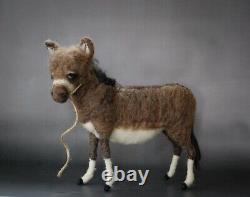 Needle Felted Christmas Nativity Set Sheep Camel Donkey Goat Wool Sculpture