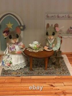 Needle Felted Mouse Libby & Lucy Handmade Gift Teddy Mice Ooak By Suzanne