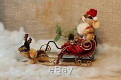 Needle felted mouse, teddy animals, by Jljuda, handmade