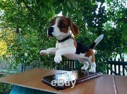 Needle-felted-wool-handmade-OOAK- Beagle Dog