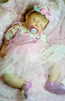 New Artist 24 6 mo. Chubby baby Camille rooted & ADG doll reborn by Peg Spencer