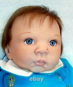 New Artist 6 months old baby boy Timothy/ Adrie Stoete reborn by Peg Spencer 9lb