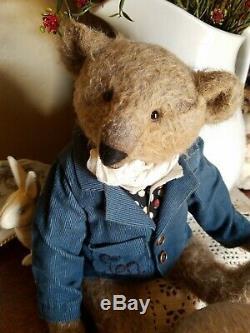 OOAK Artist Made MOHAIR 11.5 Teddy Bear by Alla Zubkova CHARLES GRAY