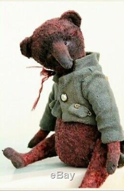 OOAK Original Hand Sewn Collectors Artist Teddy Bear 1/1