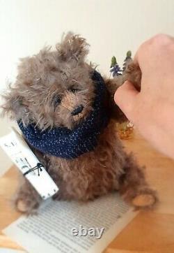OOAK Original Handmade Collectors Artist Mohair Teddy Bear Sir Oscar Peachy 10in