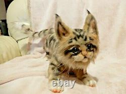 OOAK Realistic Maine Coon Kitten Cat Artist Handmade Plush Toy Posable Brand New