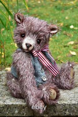 OOAK mohair artist bear Bart- 15 L Shaw, Butterfly Bears
