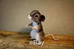 OOAK needle felted mouse, teddy animals, by Jljuda. Handmade