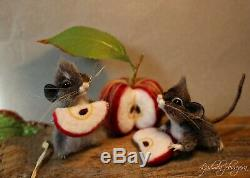 OOAK needle felted mouse, teddy animals, by Jljuda, handmade