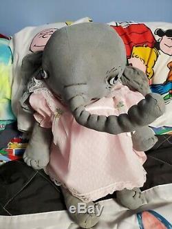 One of a Kind Artist Doll by Jan Shackelford, Peanut the 17 Elephant