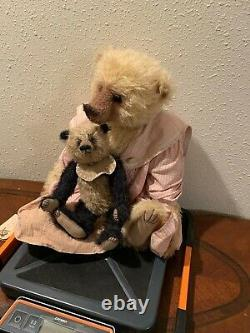 One of a kind artist signed Bramble Bear's Woods Collectible Teddy Bears