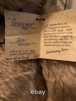 Ooak Mohair Duo Gunner Bear & Rory Rooster Created By Beardsley Bears