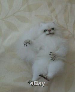 Ooak cat /hand made, art doll/soft sculpt bear cat