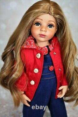Ooak custom Gotz doll artist hand painted doll blue eyes freckles