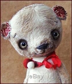 Original Alla Bears artist Old Vintage Teddy bear art doll hand made baby toy