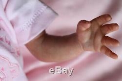 PREMATURE REBORN PREEMIE BABY KAELIN, ARTIST OF 9YRS MARIE GHSP (Outfit varies)