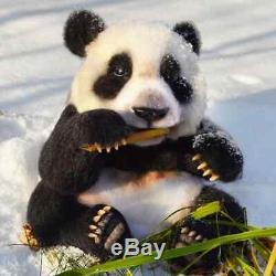 Panda bear felted panda bear