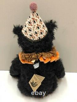 Pat Murphy Artist 18 Mohair Bear Blackie OOAK NEW with Original Tags