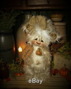 Patti's Ratties 10 Bear Autumn Pumpkin Fall Halloween OOAK Doll Artist Sikes