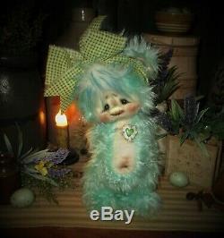 Patti's Ratties 10 Bear Cub Heart Cub OOAK Gift Rabbit Doll Artist Sikes