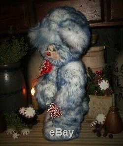 Patti's Ratties 14 Winter Bear Snowflake Christmas OOAK Gift Doll Artist Sikes