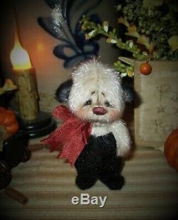 Patti's Ratties 3 Mini Teddy Bear Cub OOAK Gift Doll Panda Artist Sikes
