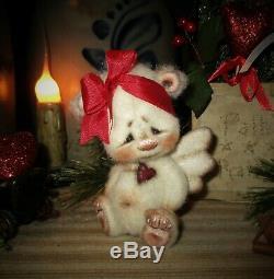 Patti's Ratties 4 Bear Cupid Angel Cub Valentine OOAK Gift Doll Artist Sikes