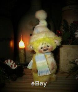 Patti's Ratties 5 Mini Teddy Bear Cub OOAK Gift Doll Artist Sikes