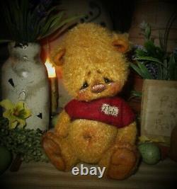 Patti's Ratties 6 Pooh Teddy Bear Spring OOAK Gift Doll Artist Sikes