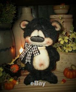 Patti's Ratties 8 Black Bear Standing Halloween Cub OOAK Doll Artist Sikes