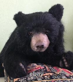 Pawtrait Bears OOAK Realistic Black Bear Cole / Design by Brigitte Smith
