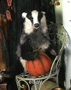 Pawtrait Bears OOAK Realistic/Fantasy Winter Fur Twilight Badger Brigitte Smith