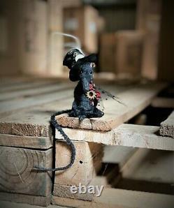 Posable Steampunk Rat Plushie Teddy Bear OOAK Boulter Bears