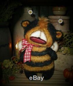 Primitive Patti's Ratties 8 Bee Bug Bear Flower Doll OOAK Artist Sikes