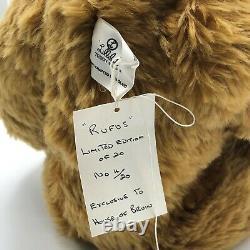 RARE Large Lillibet Growler Bear Rufus Mohair 62cm long Ltd Ed 4/20