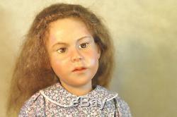 RARE OOAK Artist Carol Trobe 21 Girl in Violet Dress & Red Shoes Doll 1992 VGC