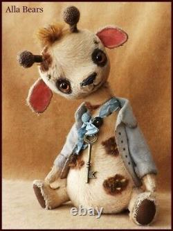 READY to SHIP Alla Bears artist Antique Vintage Giraffe art doll toy Japan anime