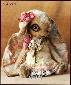 READY to SHIP Alla Bears artist Bunny Rabbit bear Old doll toy OOAK decor anime